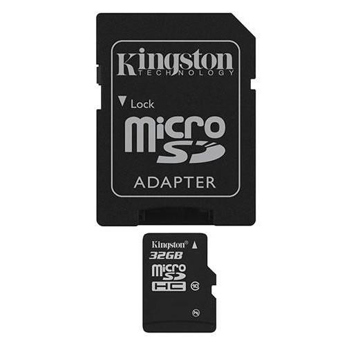 Карта памяти 32Гб microSDHC (SDC10/32GBSP) с адаптером