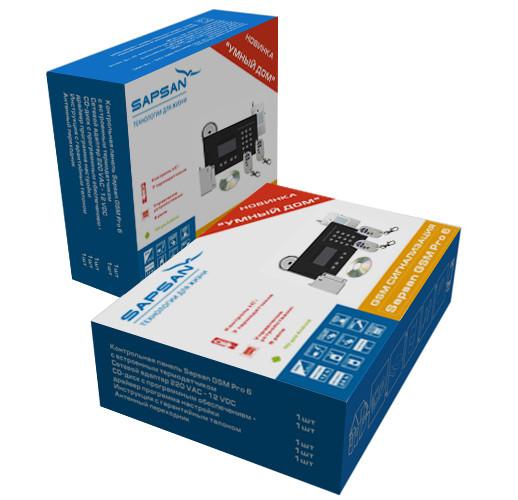 """Сигнализация Sapsan GSM Pro 6 """"Умный дом"""" для коттеджа, дома, дачи"""