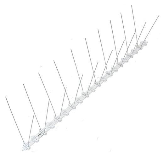 """Шипы антиприсадные от птиц """"Барьер-Премиум 2"""" (50 см, 20 шипов, 2 ряда)"""