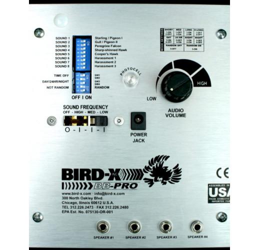 """Звуковой и ультразвуковой (2 в 1) отпугиватель птиц """"BroadBand PRO"""" с 4 выносными динамиками"""