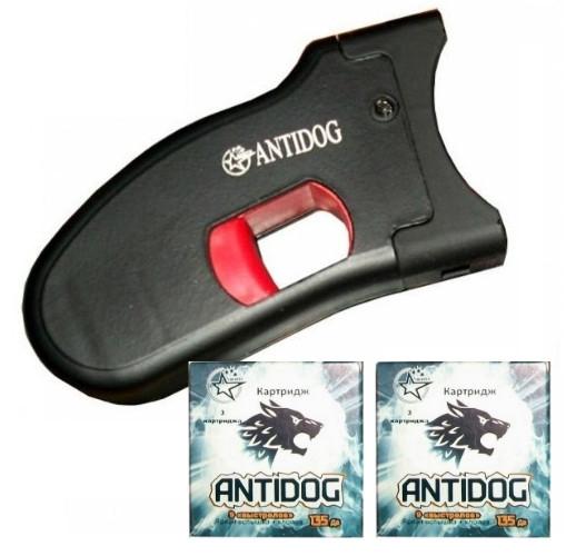 """Комплект AntiDOG """"ОПТИМУМ"""": устройство + 2 упаковки со светошумовыми картриджами"""