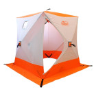 """Палатка для зимней рыбалки """"КУБ"""" Следопыт однослойная, 1,8 м х 1,8 м, 3-х местная, Oxford 240D PU 2000, (бело-оранжевая, бело-синяя)"""
