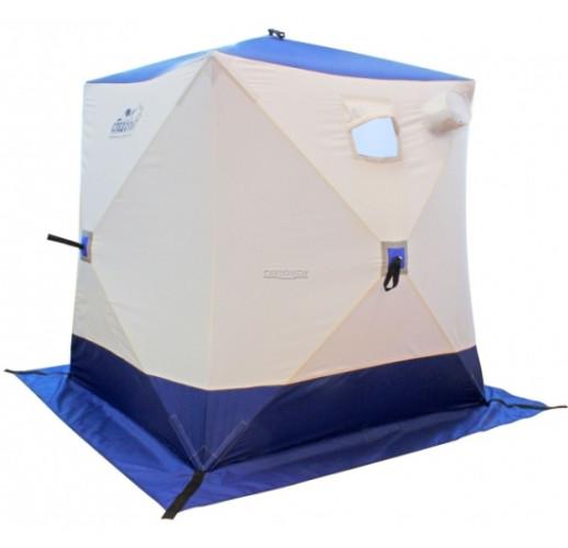 """Палатка для зимней рыбалки """"КУБ"""" Следопыт однослойная, 1,5 м х 1,5 м, 2-х местная, Oxford 210D PU 1000, (бело-оранжевая, бело-синяя)"""