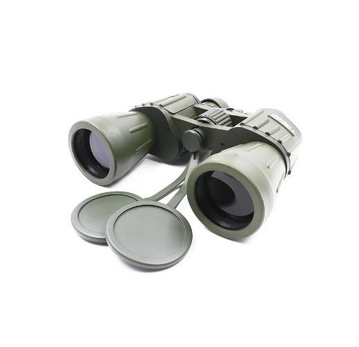 """Бинокль """"СЛЕДОПЫТ"""", 10 х 50, зеленый-защитный, 185*65*180 мм, 830 г, в чехле"""