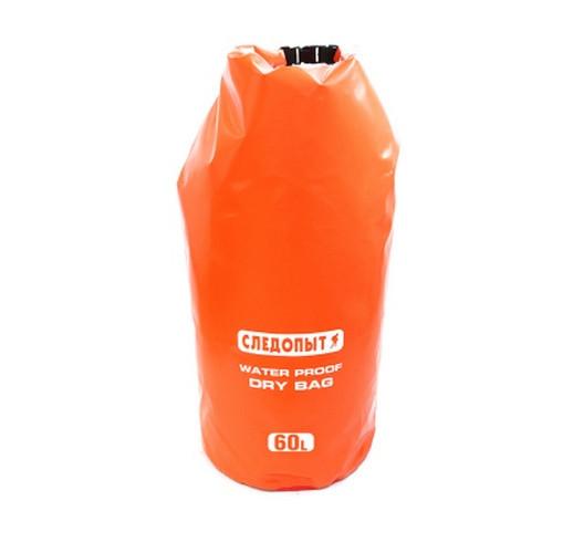 """Гермомешок """"СЛЕДОПЫТ - Dry Bag"""" без лямок, 60 л, цвет оранжевый"""