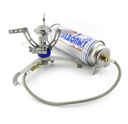 Переходник адаптер на газовый картридж с цанговым зажимом PF-GSA-02